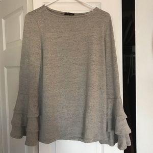 Bell-sleeve sweater